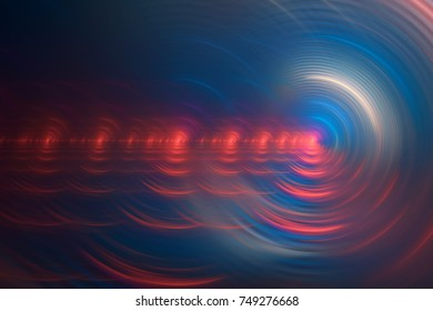 Blue and red circular motion abstract background