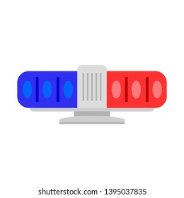 Blue red flasher icon. Flat illustration of blue red flasher icon for web design