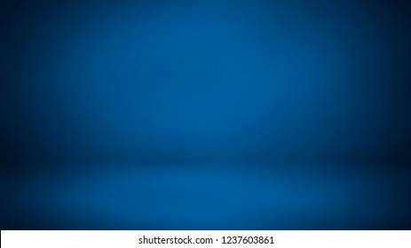 Blue room in 3D. Background
