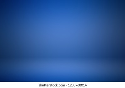 Blue room in 3D.Blur abstract Background