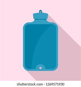 Blue rubber warmer icon. Flat illustration of blue rubber warmer icon for web design