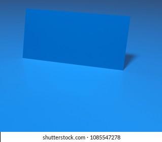 blue sheet blank- rendered 3d image