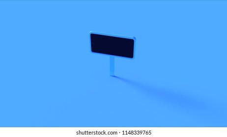 Blue Sign 3d illustration 3d render