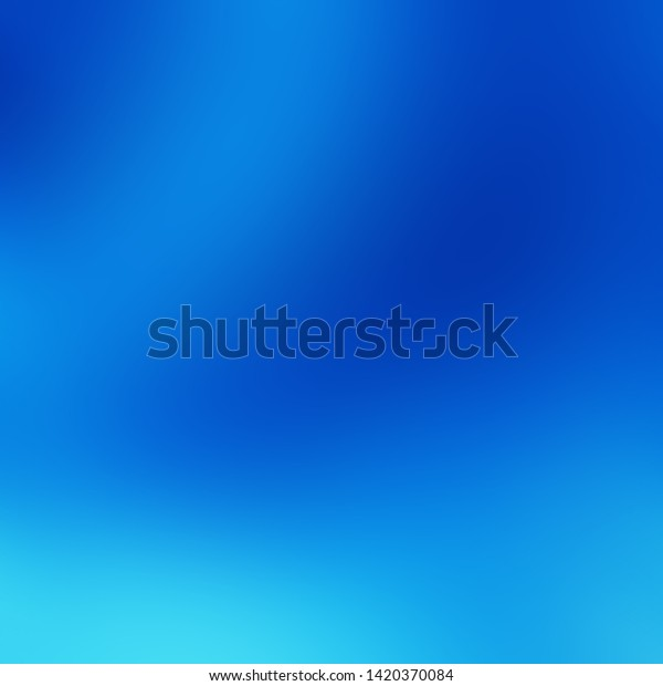 Blue Sky Background Gradient Natural Texture Stock Illustration