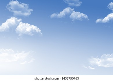 blue sky background with tiny clouds, background illustration,