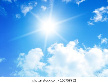 blue sky background with tiny clouds - Shutterstock ID 150759932