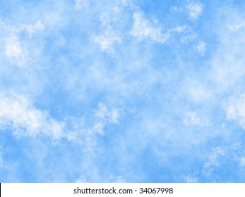 blue sky with clouds, seamless repeat pattern