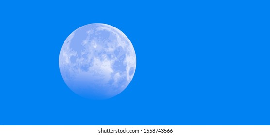 Blue sky half full moon Equinox planet Earth day Earth's Waning Crescent Gibbous waxing moon means Vector Moonlight by day daytime astrology symbol icon icons sign Phases funny Solar eclipse sun