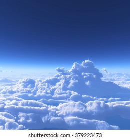 blue sky and the sea of clouds - Shutterstock ID 379223473