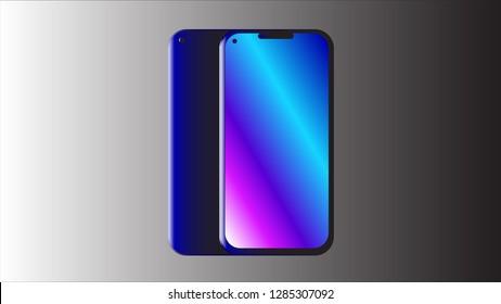 A blue smartphone.