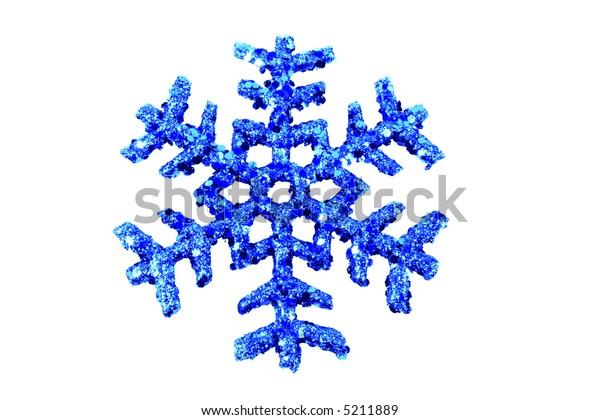 Blue Snowflake on white
