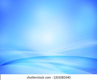 Blue soft wavy abstract background.