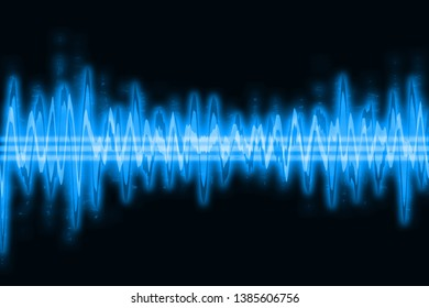 Blue sound waves abstrakt background