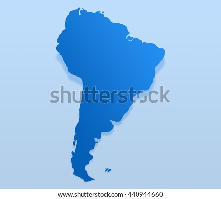 Royalty Free Stock Illustration Of Blue South America Map South