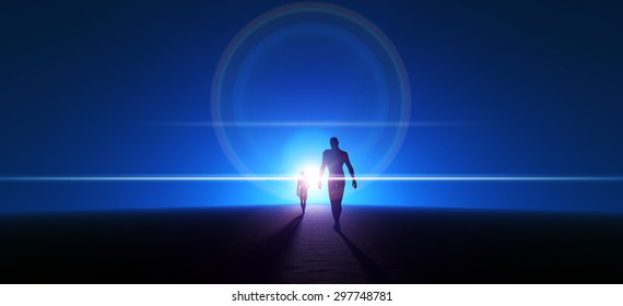 blue spacewalk