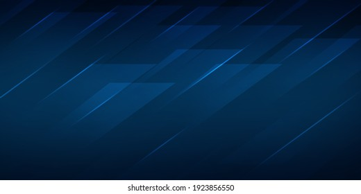 Blue Square Shapes Abstract Elegant background with glowing lines. Modern royal blue background