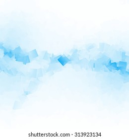 blue squares - modern abstract background