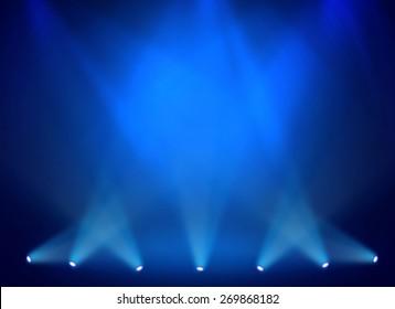 Blue stage background