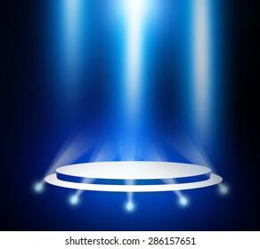 Blue stage light background