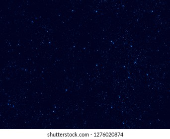 Blue stars in space background