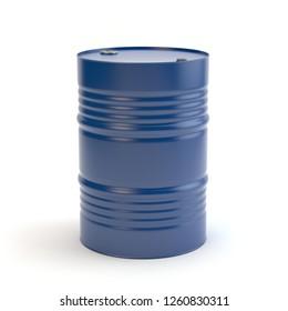Blue steel barrel, 3D illustration