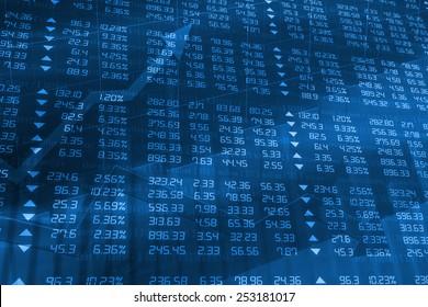 Blue Stock Exchange Board Ticker