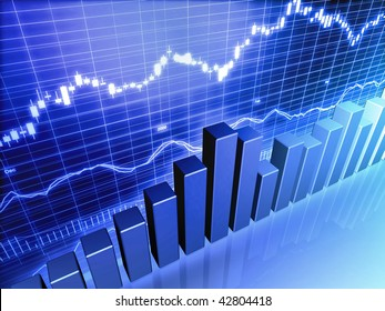 Blue Stock Market Graph