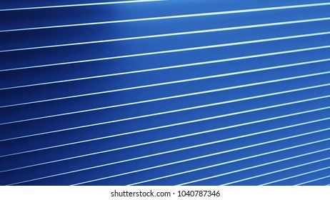 Blue straight lines background in 3d