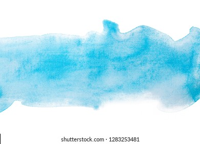 blue strip abstract watercolor texture, hand drawn painting,
