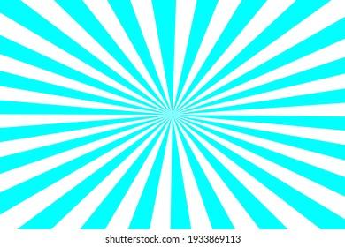 Blue Sunburst for the background. flag of japanese. The rising sun.
