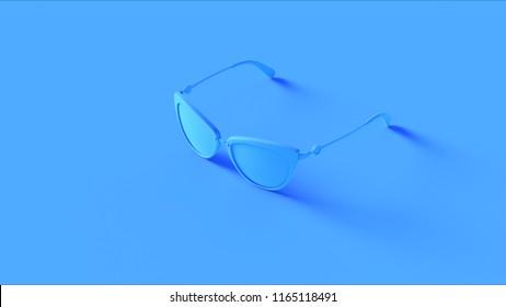 Blue Sunglasses 3d illustration 3d rendering