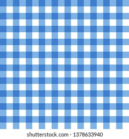Blue tablecloth texture. Seamless background.