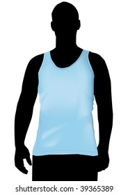 Royalty Free Stock Illustration Of Blue Tank Top Design Template