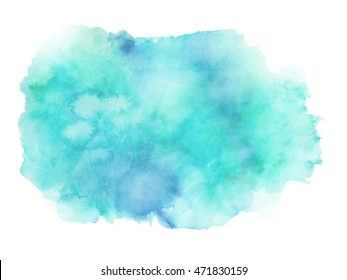 blue teal green watercolor background graphic