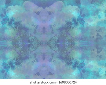 Blue, teal and purple colored abstract watercolor painting, abstract art background.