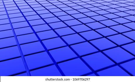 blue tiles - CG image