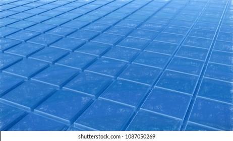 blue tiles - rendered 3d illustration