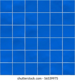 Blue tiles texture background, kitchen, bathroom or pool concept