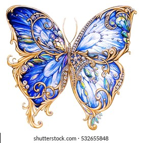 174166f4217fc5 Blue tropical butterfly. Beautiful ...