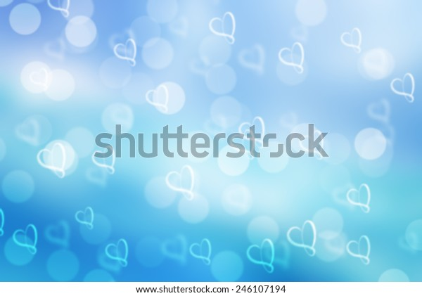 Blue Valentine Sparkle Bokeh Background Bokeh Stock