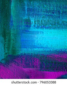 blue violet abstraction by oil on a texture canvas, illustration