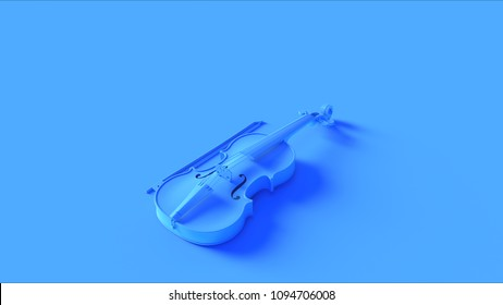 Blue Violin 3d illustration
