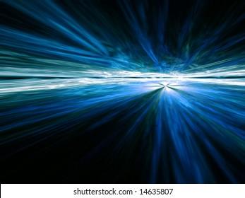 Blue Vista - fractal illustration