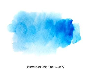 blue watercolor background. art hand paint