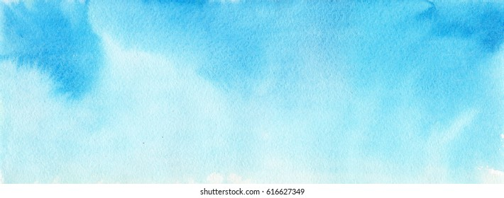 Blue watercolor background for backgrounds