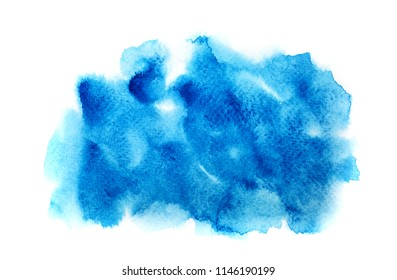 blue watercolor background.  hand paint