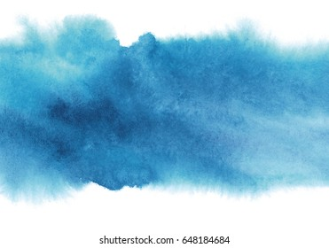blue watercolor background, shades of blue