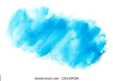 blue watercolor with colorful shades on white background texture design