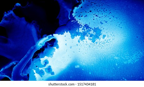 Blue Watercolor. Navy Sophisticated Wallpaper. Marine Beautiful Texture. Flow Persian Background. Blue Watercolor. Liquid Alcohol Fluid. Indigo Ocean Background. Ethereal Sea Ink.