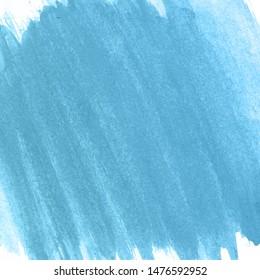 Blue watercolor paint paper background.
